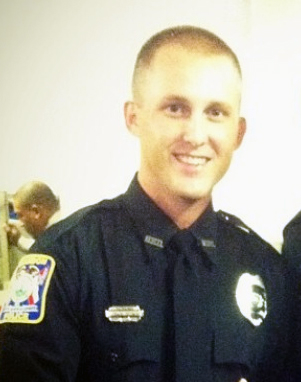 Officer Chase Beamon, injured in motorcycle accident this morning.